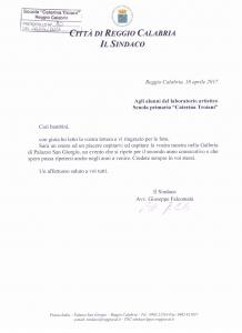 lettera sindaco